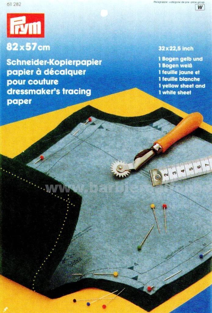 Schneiderkopierpapier 82 x 57 cm Giallo